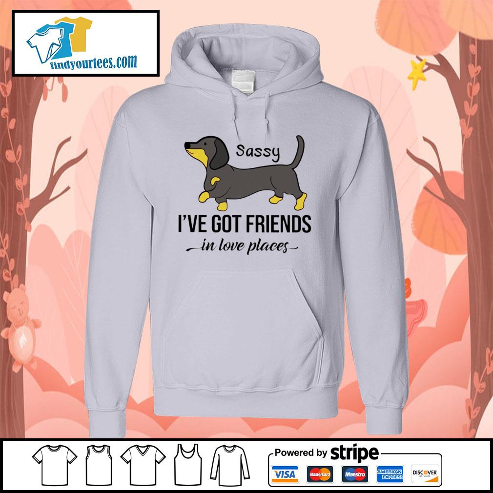 Dachshund Sassy I've got friends in love places s Hoodie