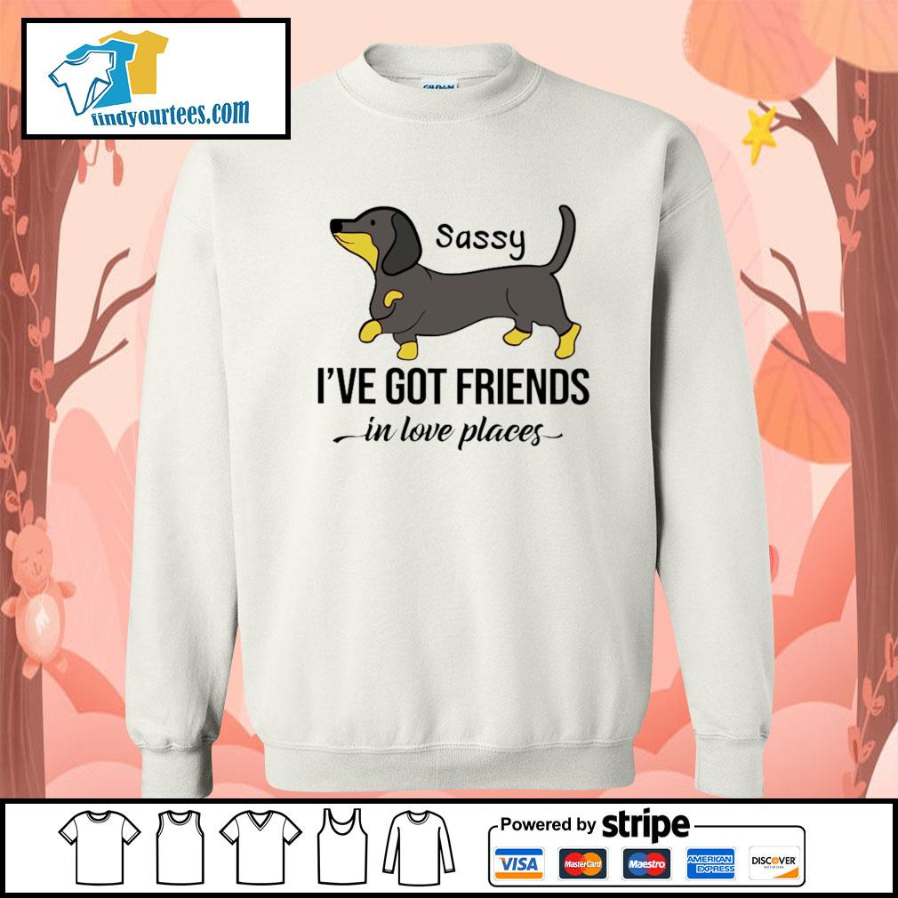 Dachshund Sassy I've got friends in love places s Sweater