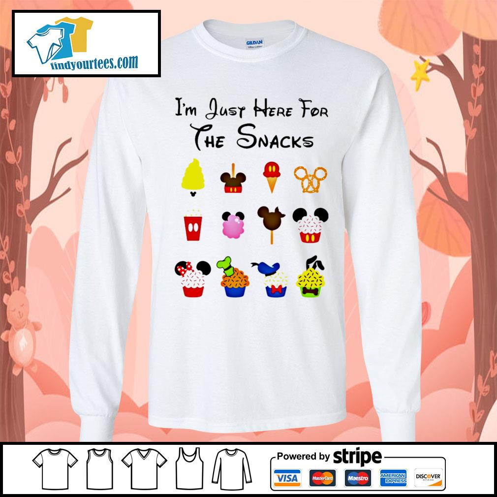 Disney I'm just here for the snacks Halloween s Long-Sleeves-Tee
