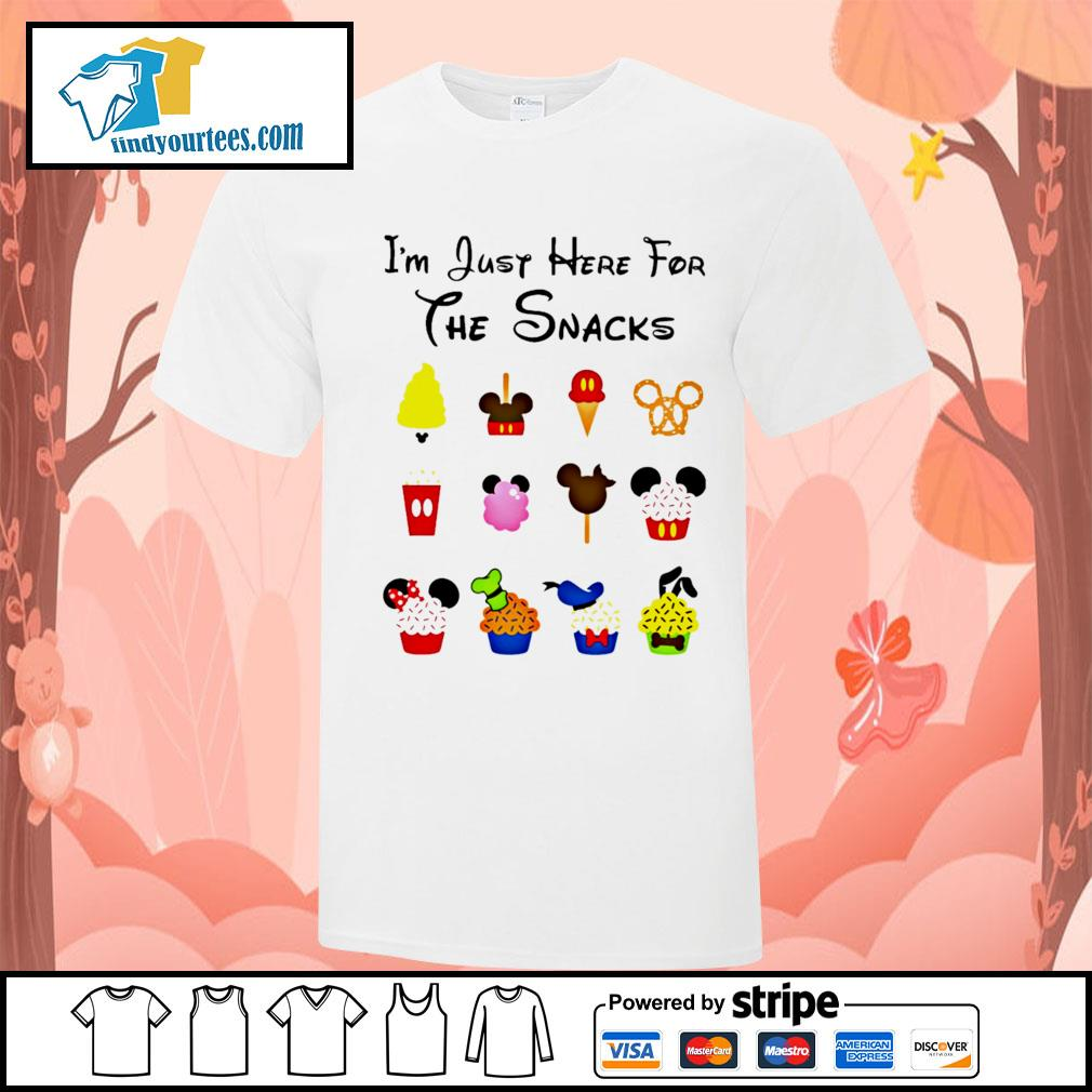 Disney I'm just here for the snacks Halloween shirt