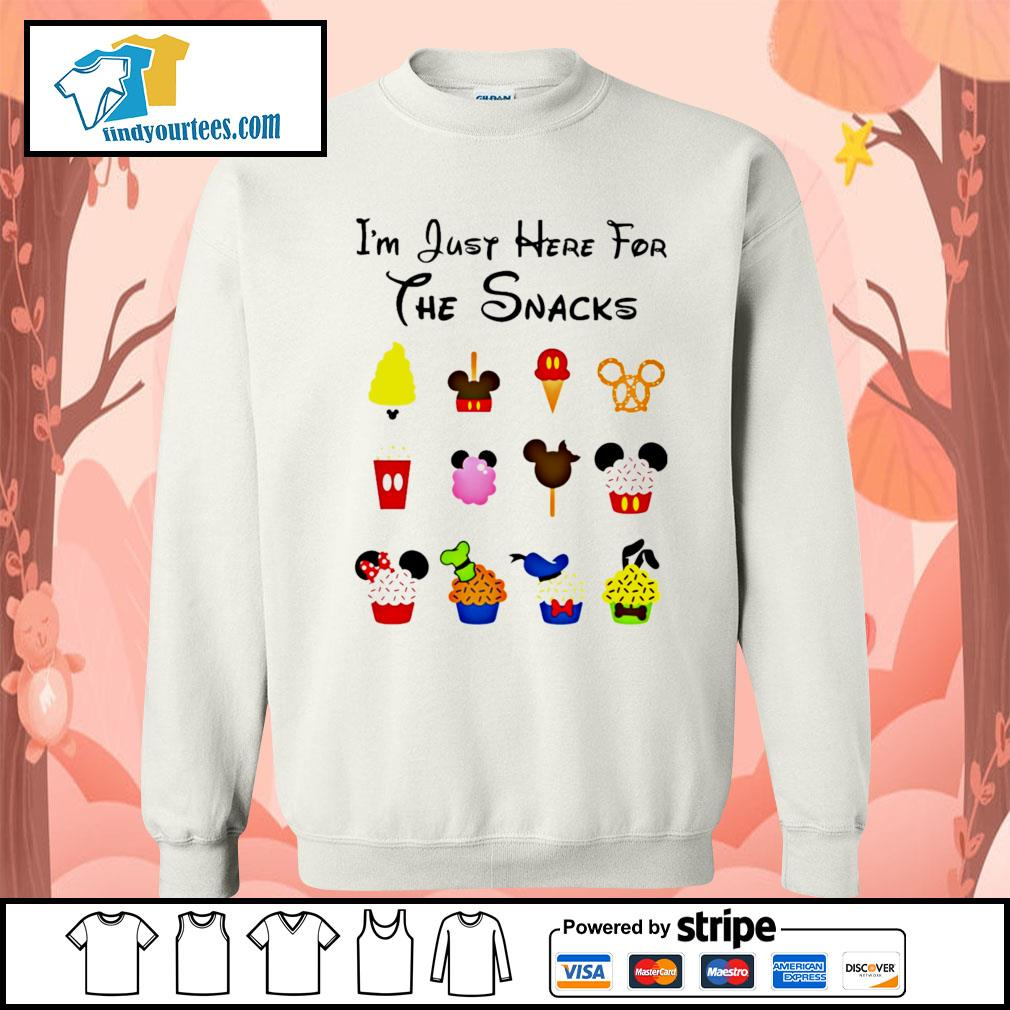 Disney I'm just here for the snacks Halloween s Sweater