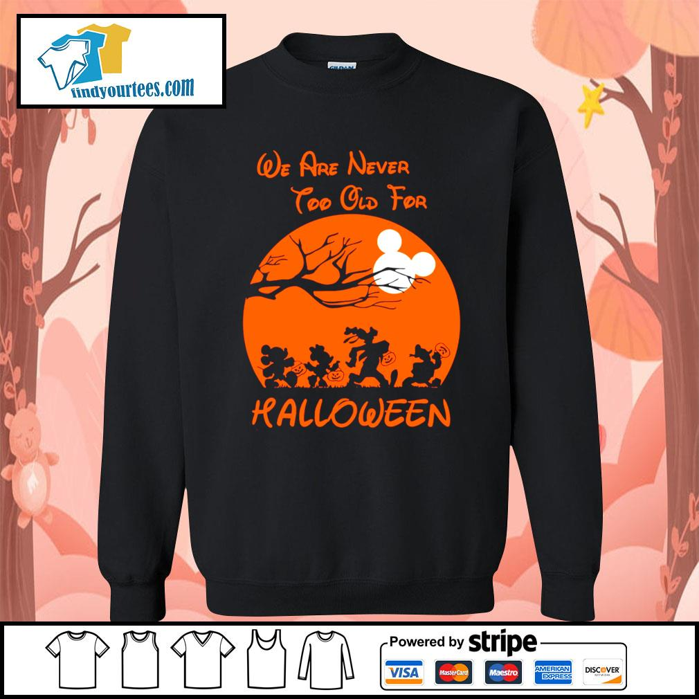Disney We are never too old for Halloween s Sweater