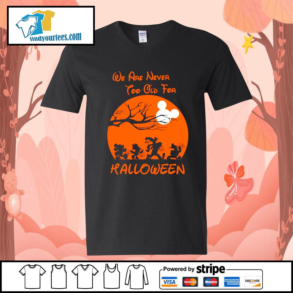 Disney We are never too old for Halloween s V-neck-T-shirt
