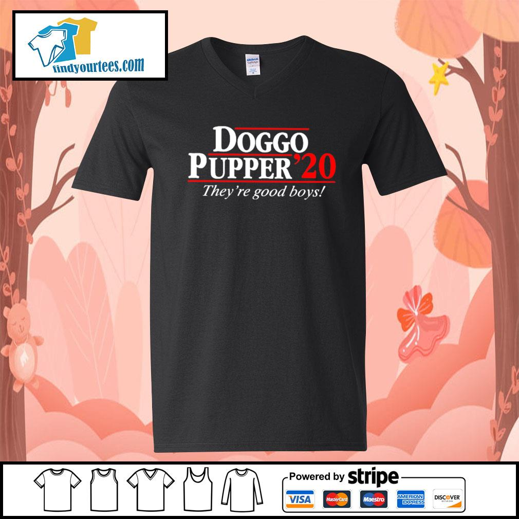 Doggo Pupper 2020 they're good boys s V-neck-T-shirt