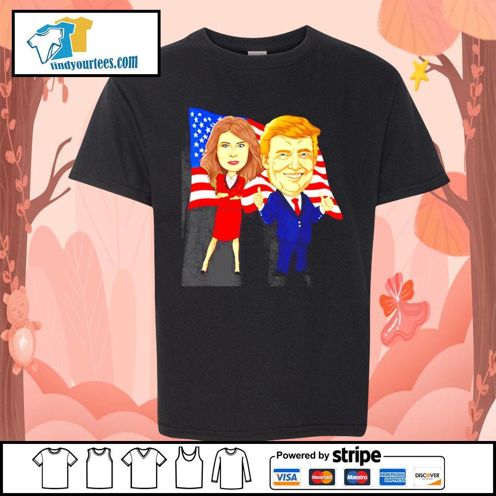 Donald Trump and Melania Trump potus flotus USA s Kid-T-shirt