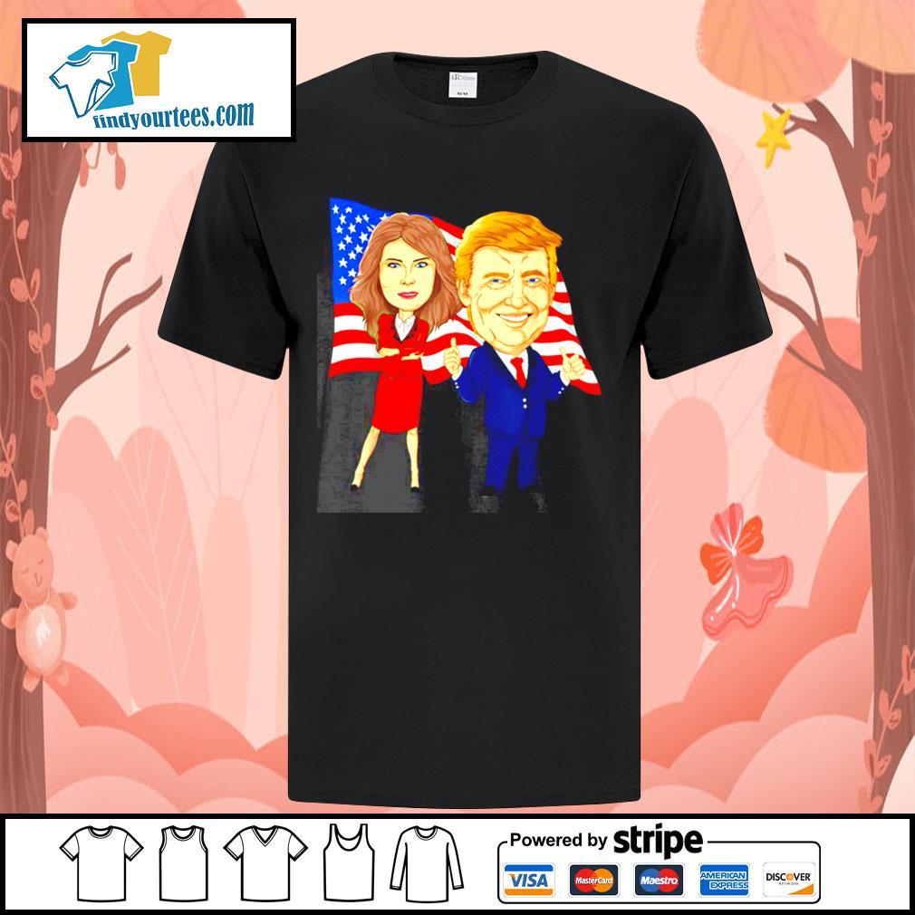 Donald Trump and Melania Trump potus flotus USA shirt