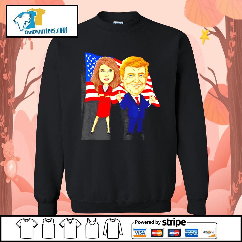 Donald Trump and Melania Trump potus flotus USA s Sweater
