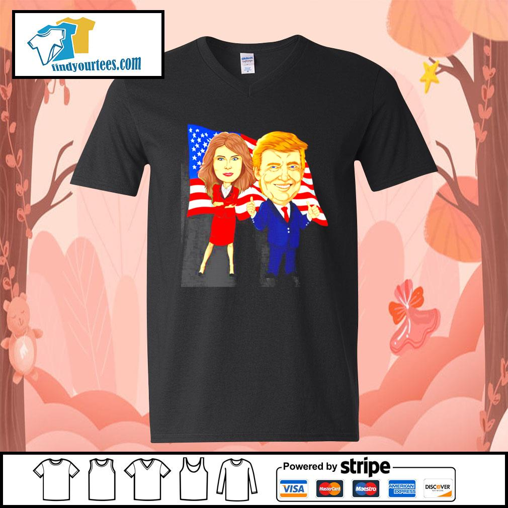 Donald Trump and Melania Trump potus flotus USA s V-neck-T-shirt