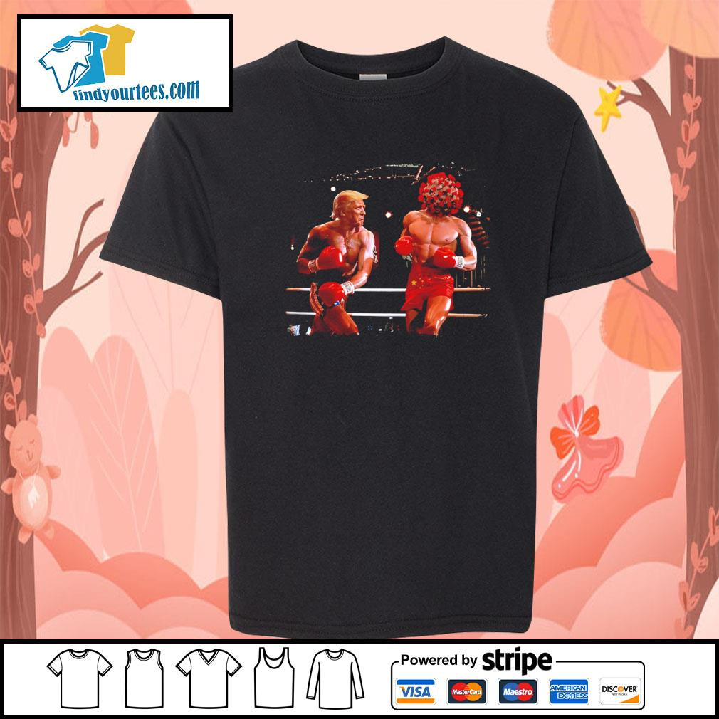 Donald Trump with Covid boxing s Kid-T-shirt