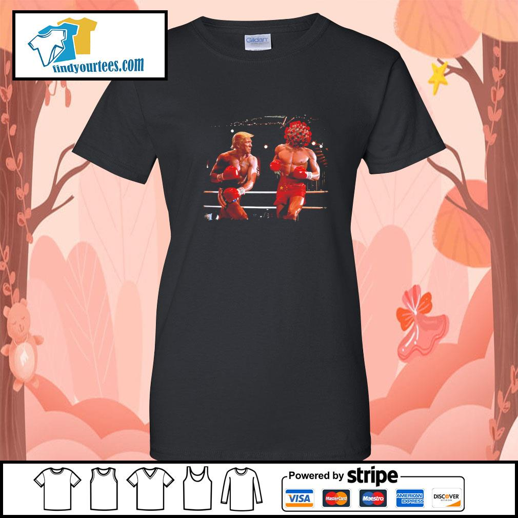 Donald Trump with Covid boxing s Ladies-Tee