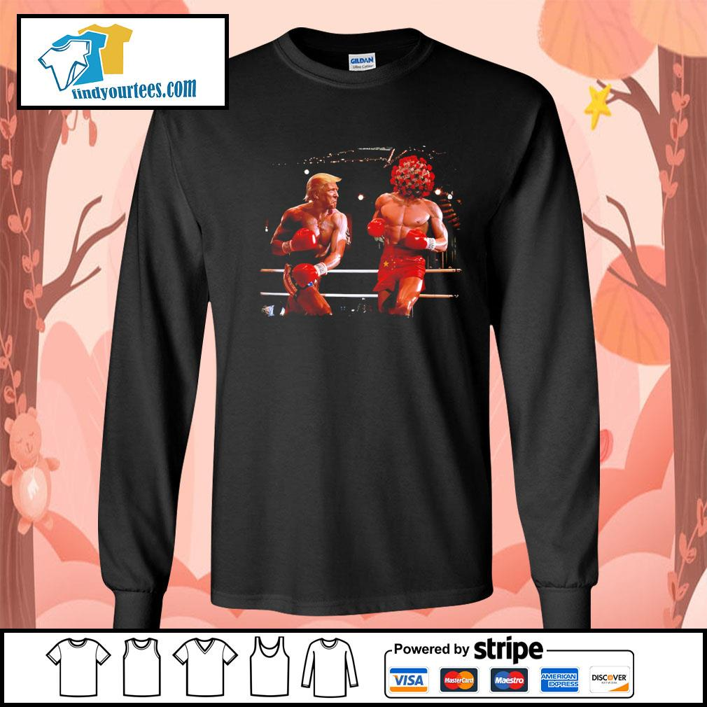 Donald Trump with Covid boxing s Long-Sleeves-Tee