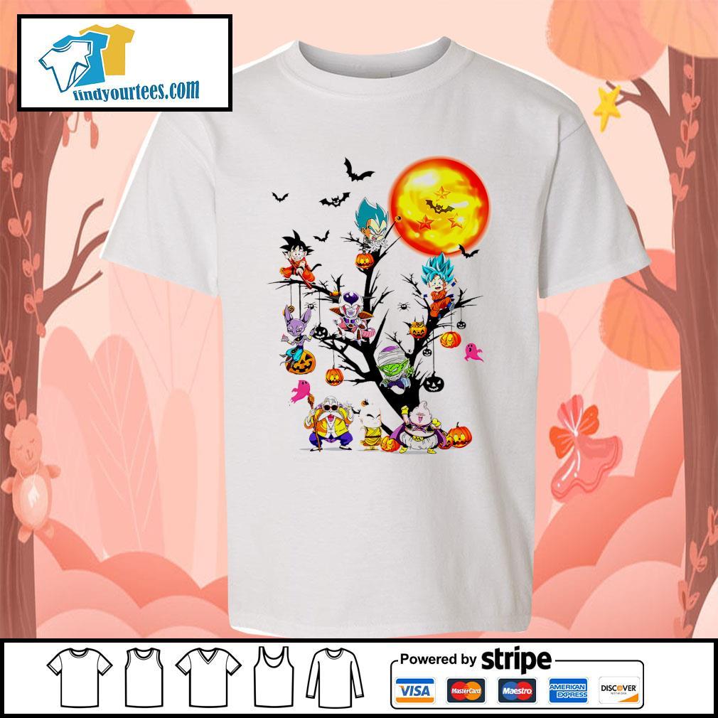 Dragon Ball characters Halloween tree s Kid-T-shirt