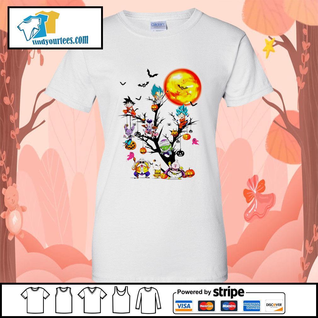 Dragon Ball characters Halloween tree s Ladies-Tee