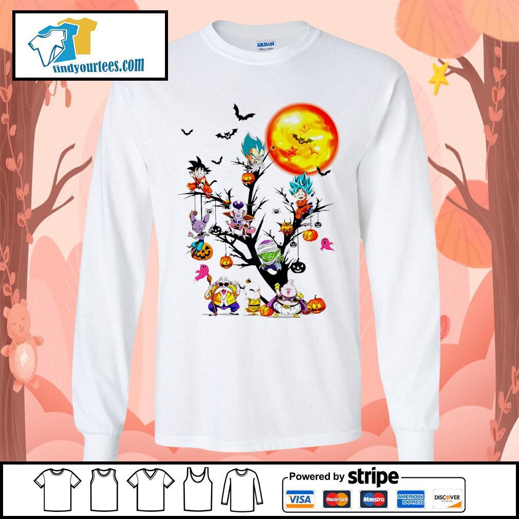 Dragon Ball characters Halloween tree s Long-Sleeves-Tee