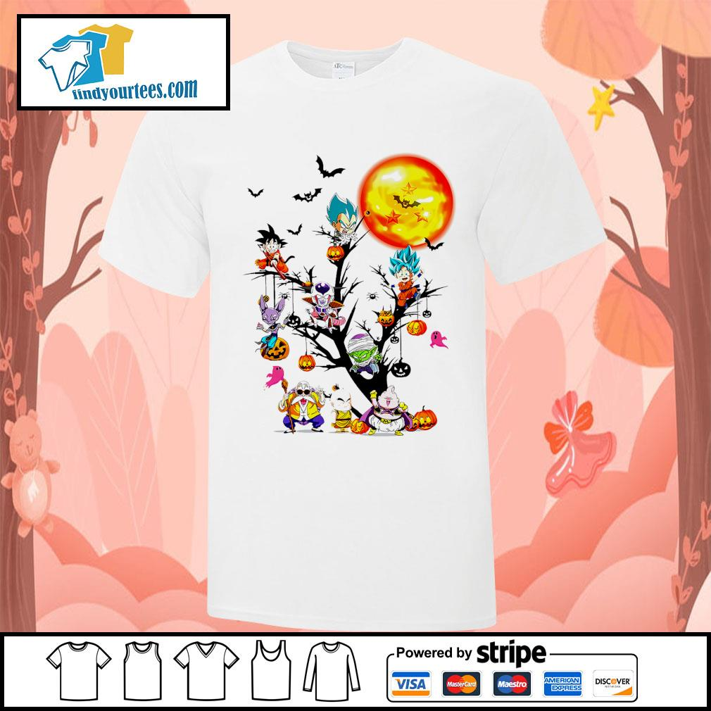 Dragon Ball characters Halloween tree shirt