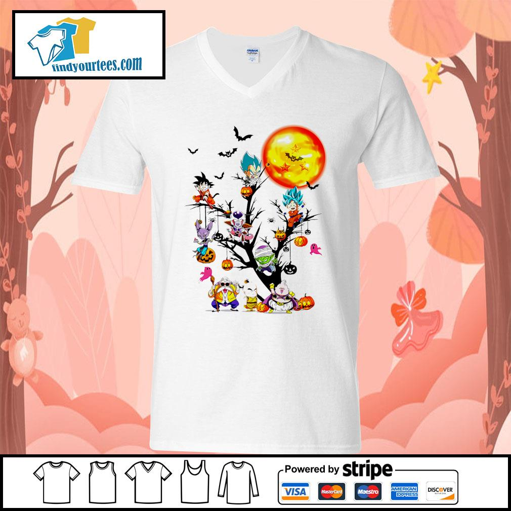 Dragon Ball characters Halloween tree s V-neck-T-shirt