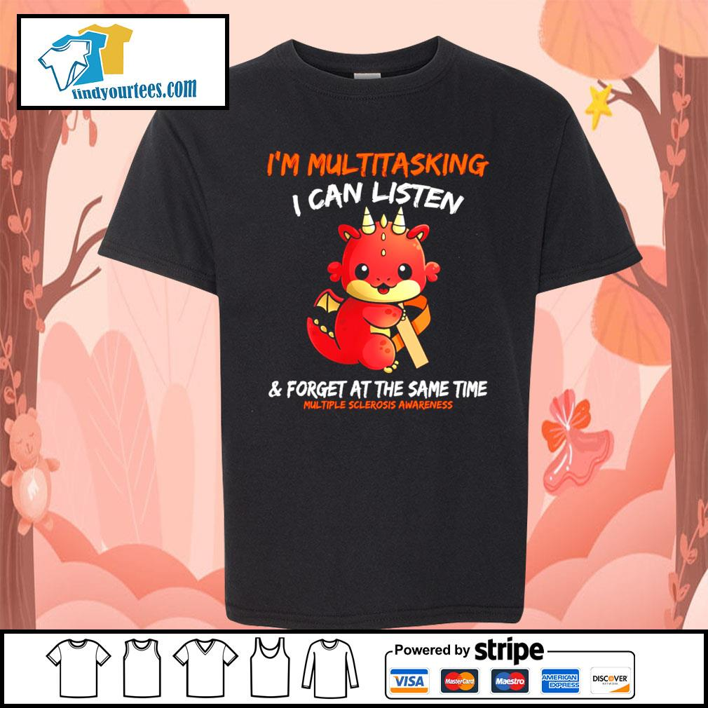 Dragon I'm multitasking I can listen and forget at the same time s Kid-T-shirt