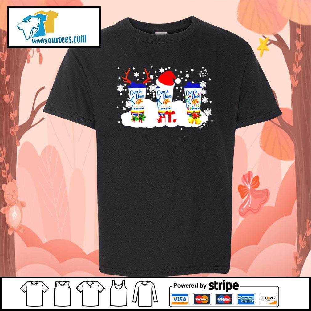 Dutch Bros coffee Rudolph Christmas sweats Kid-T-shirt