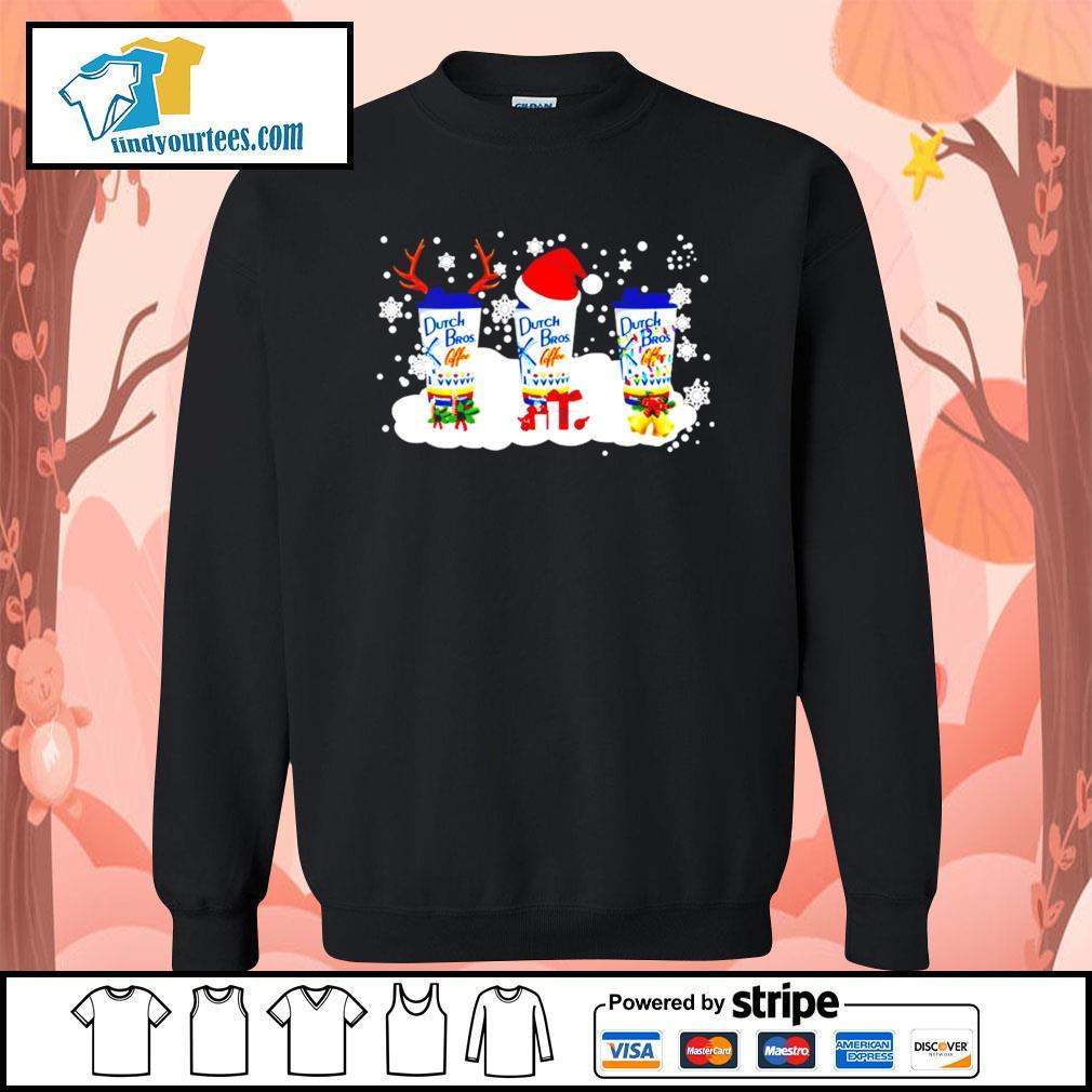 Dutch Bros coffee Rudolph Christmas sweats Sweater