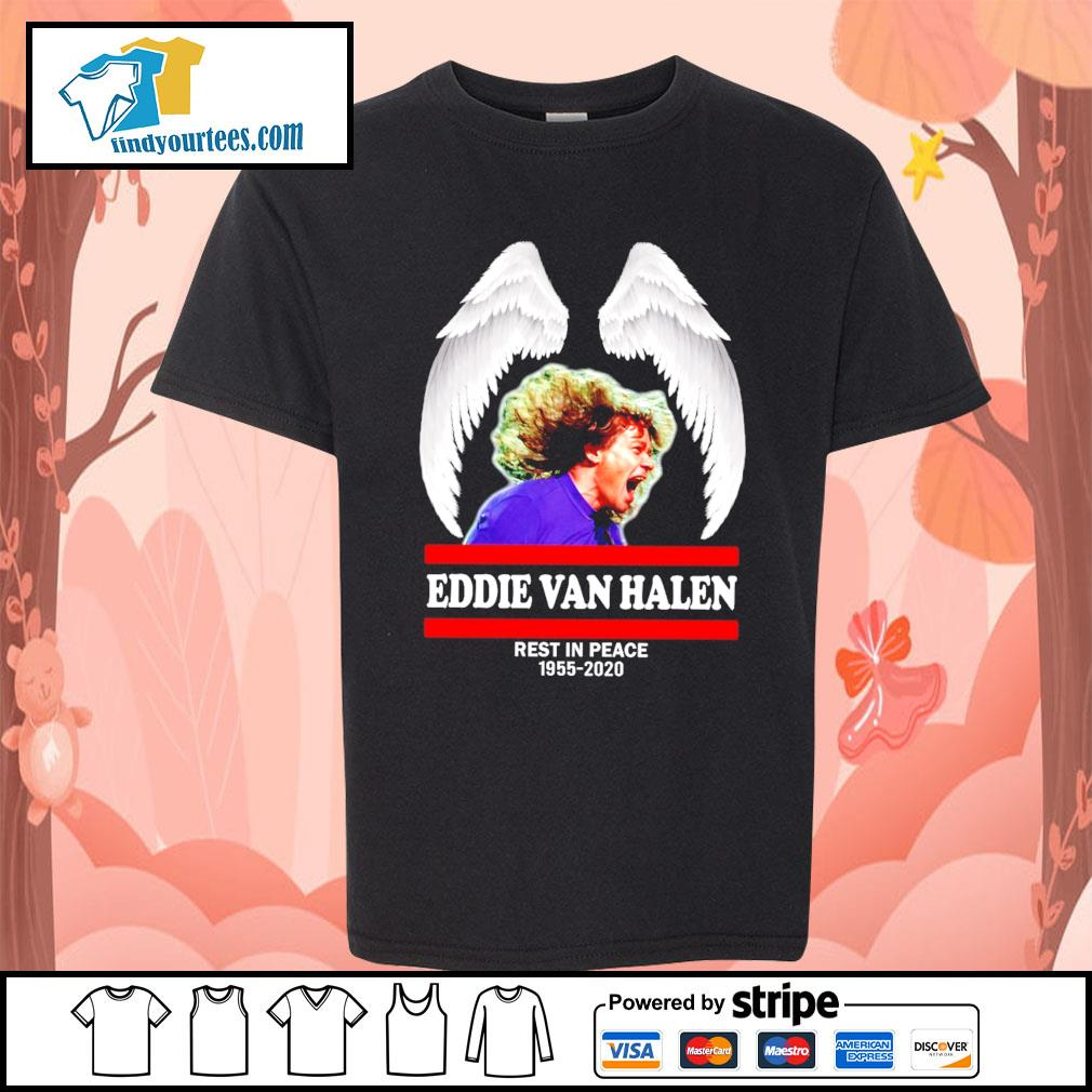 Eddie Van Halen rest in peace 1955 2020 s Kid-T-shirt