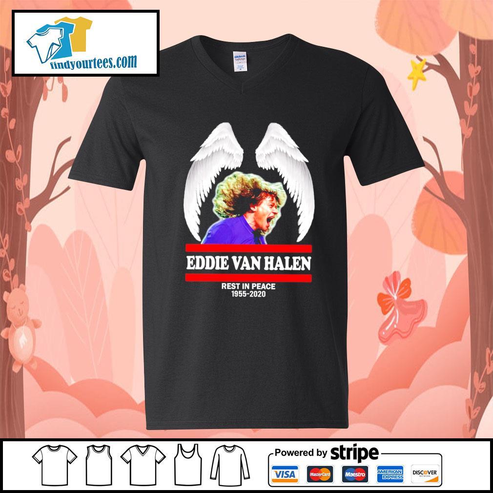 Eddie Van Halen rest in peace 1955 2020 s V-neck-T-shirt