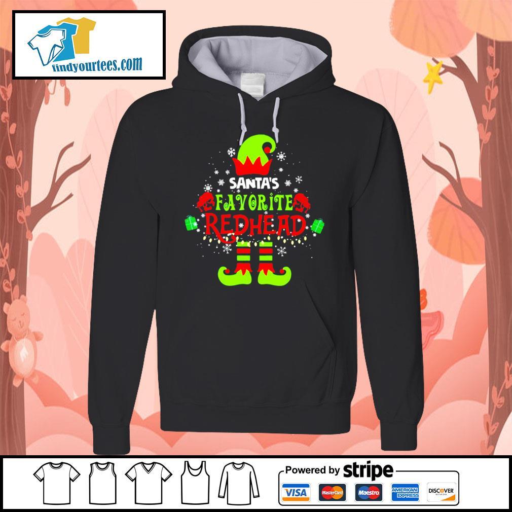 ELF Santa's favorite redhead Christmas shirt, sweater Hoodie