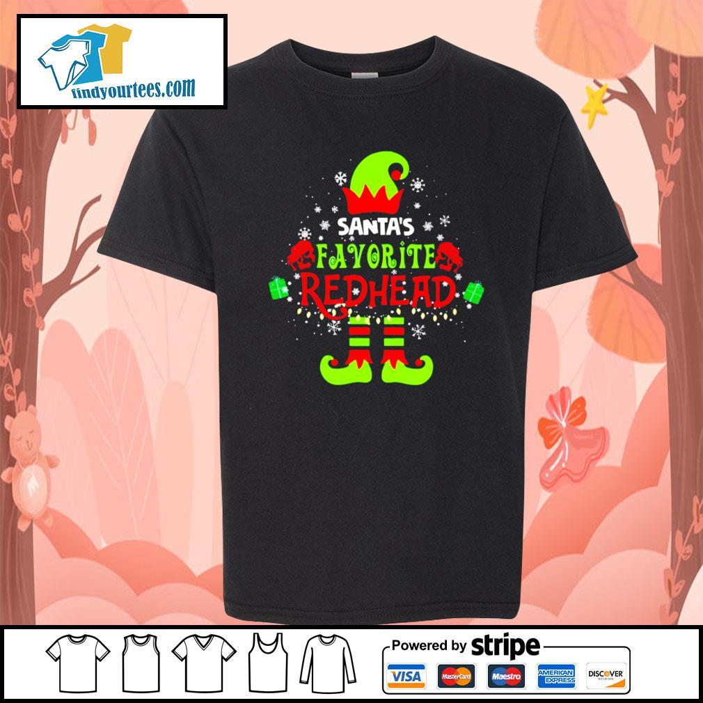 ELF Santa's favorite redhead Christmas shirt, sweater Kid-T-shirt