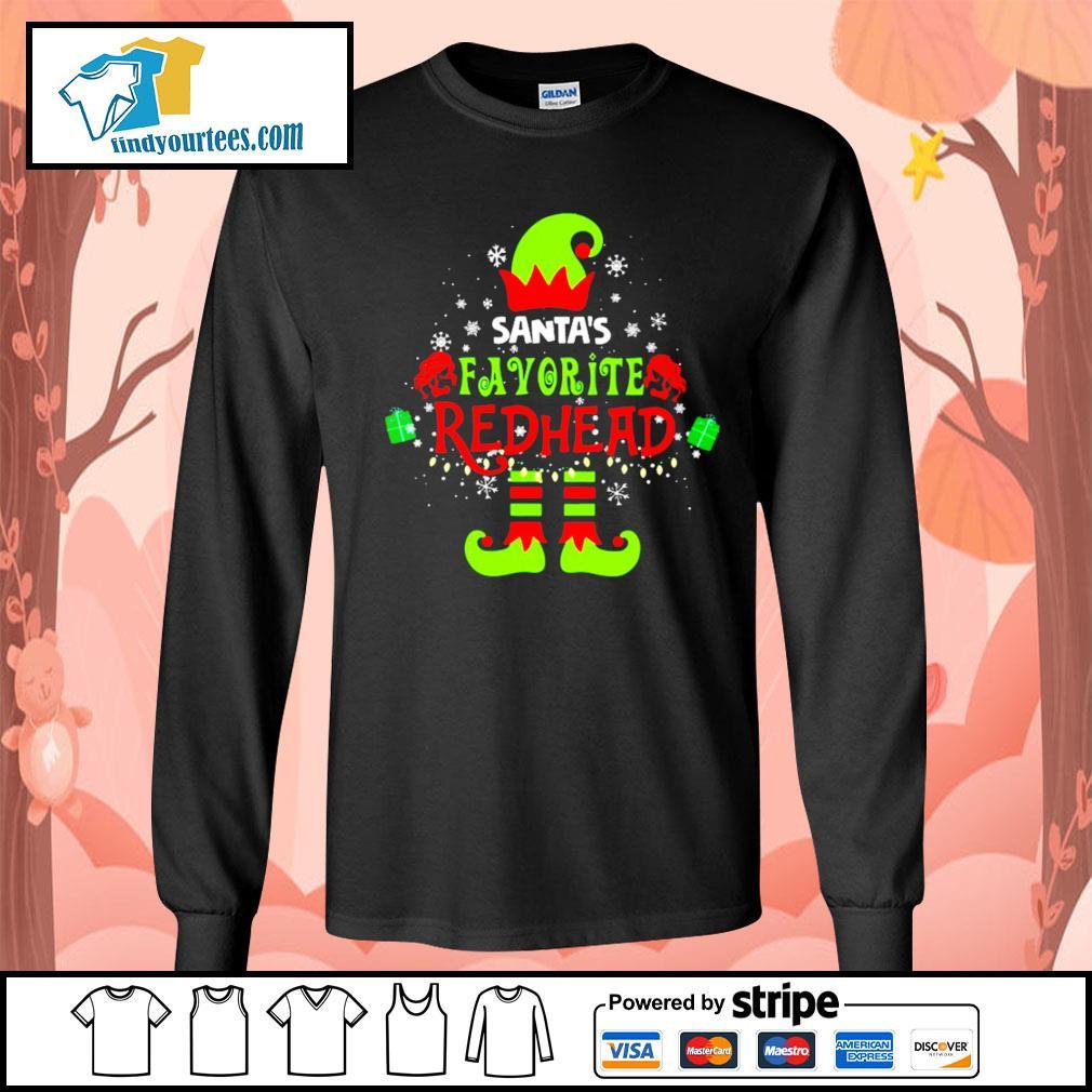 ELF Santa's favorite redhead Christmas shirt, sweater Long-Sleeves-Tee