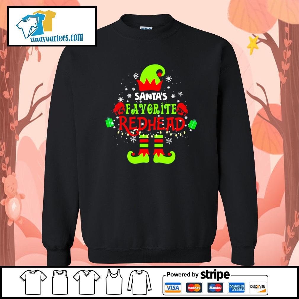ELF Santa's favorite redhead Christmas shirt, sweater Sweater