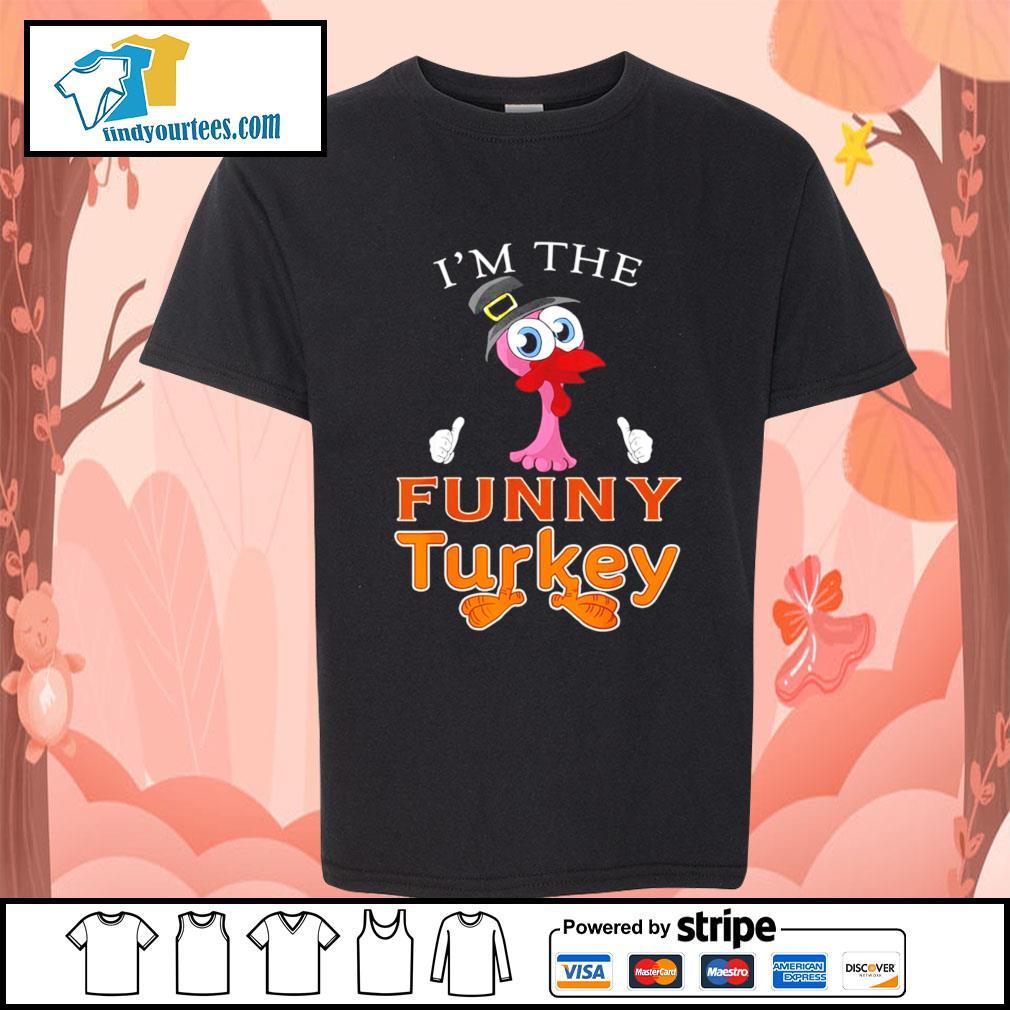 Flamingo I'm the funny Turkey s Kid-T-shirt