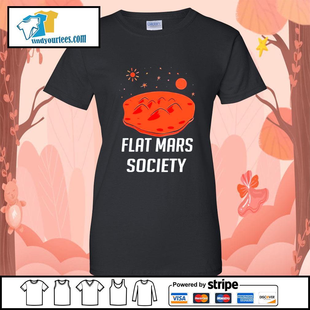 Flat mars society s Ladies-Tee