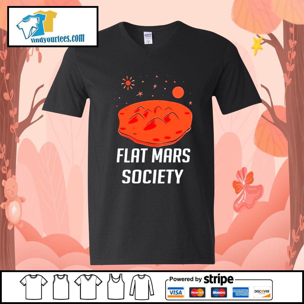 Flat mars society s V-neck-T-shirt