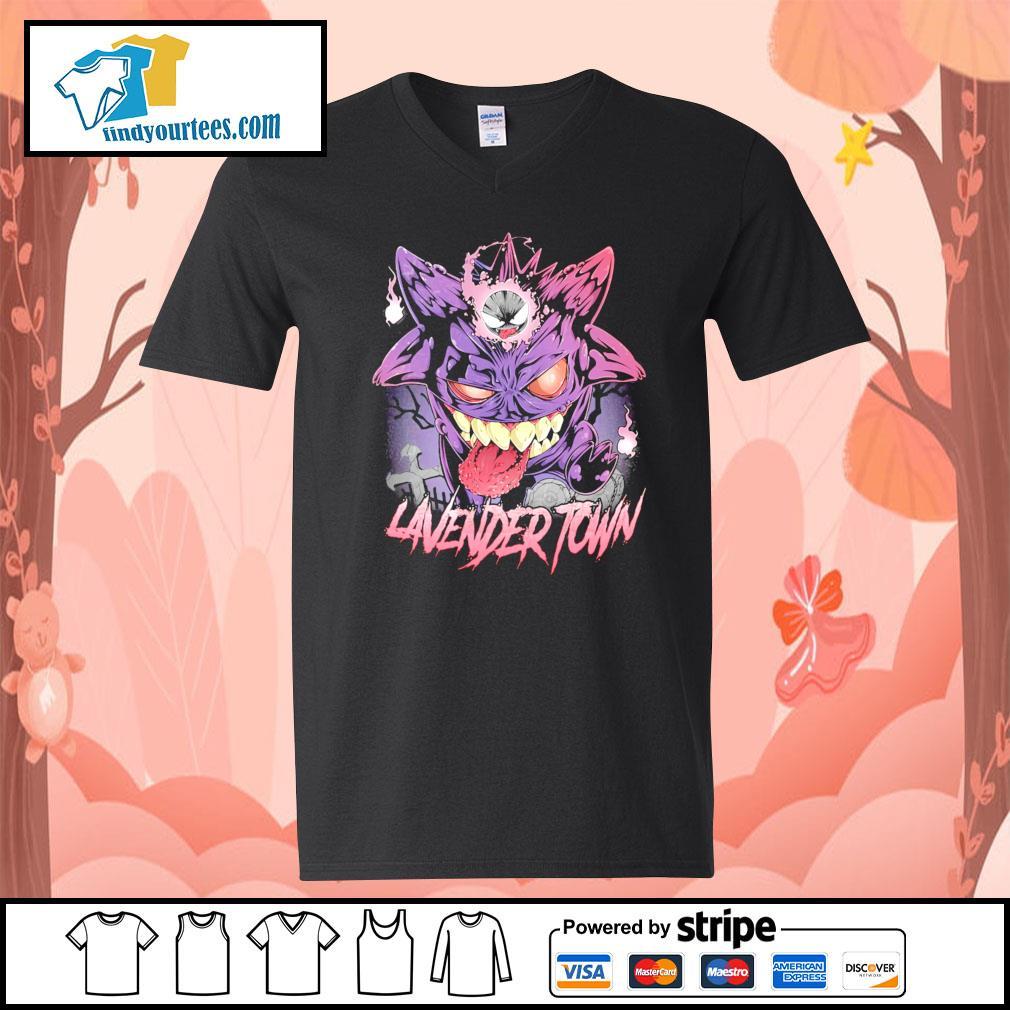 Gastly Haunter Gengar Lavender Town s V-neck-T-shirt