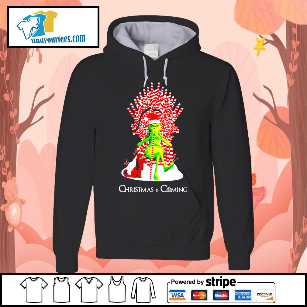 Grinch and dog King Christmas and coming shirt, sweater Hoodie
