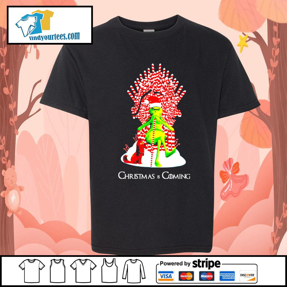 Grinch and dog King Christmas and coming shirt, sweater Kid-T-shirt
