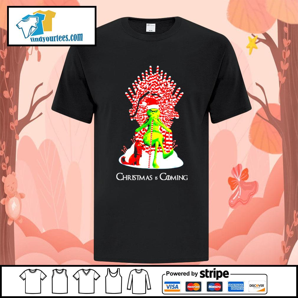 Grinch and dog King Christmas and coming shirt, sweater
