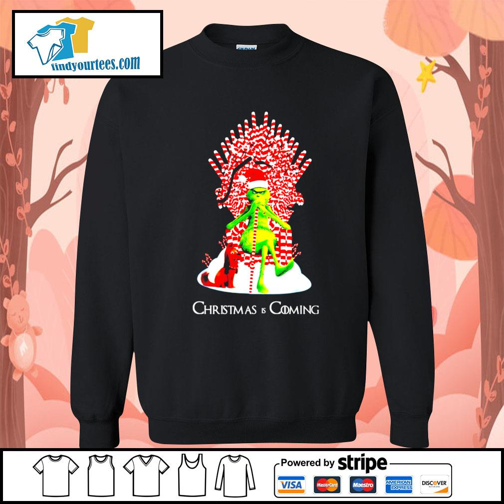 Grinch and dog King Christmas and coming shirt, sweater Sweater