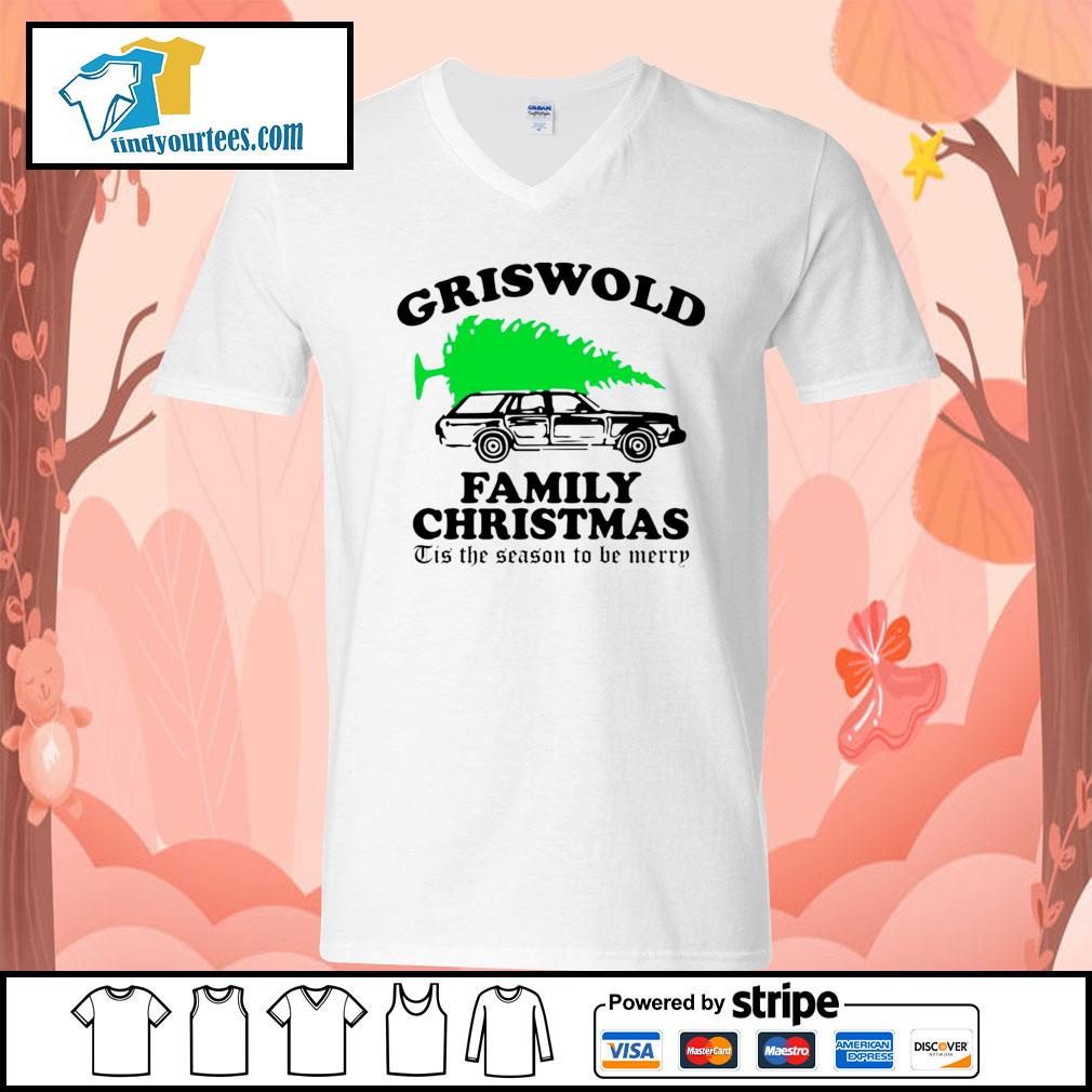 Griswold family Christmas Tis the season to be merry s V-neck-T-shirt
