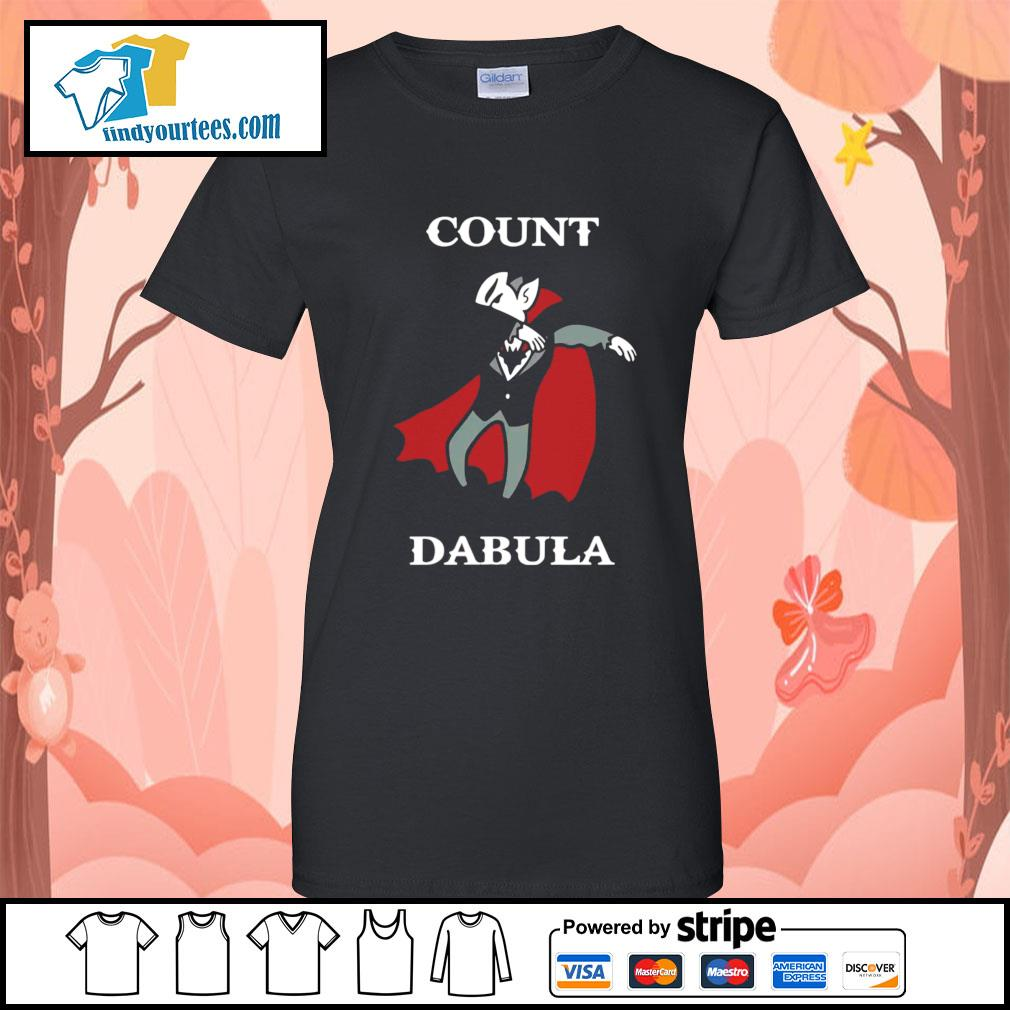 Halloween Count Dabula dabbing s Ladies-Tee