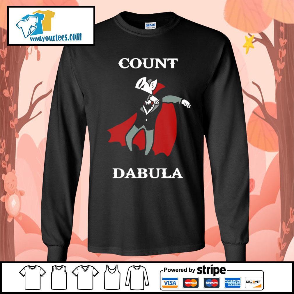 Halloween Count Dabula dabbing s Long-Sleeves-Tee