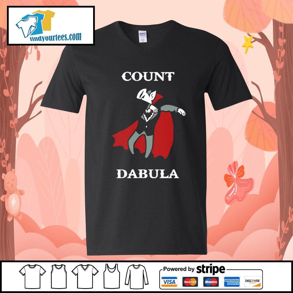 Halloween Count Dabula dabbing s V-neck-T-shirt