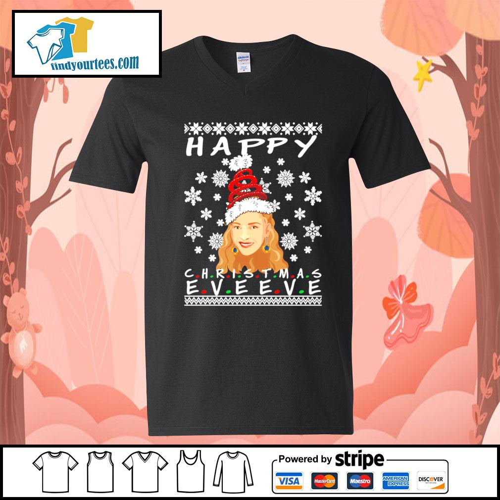 Happy Christmas Eve Eve Friends Phoebe ugly Christmas sweater V-neck-T-shirt