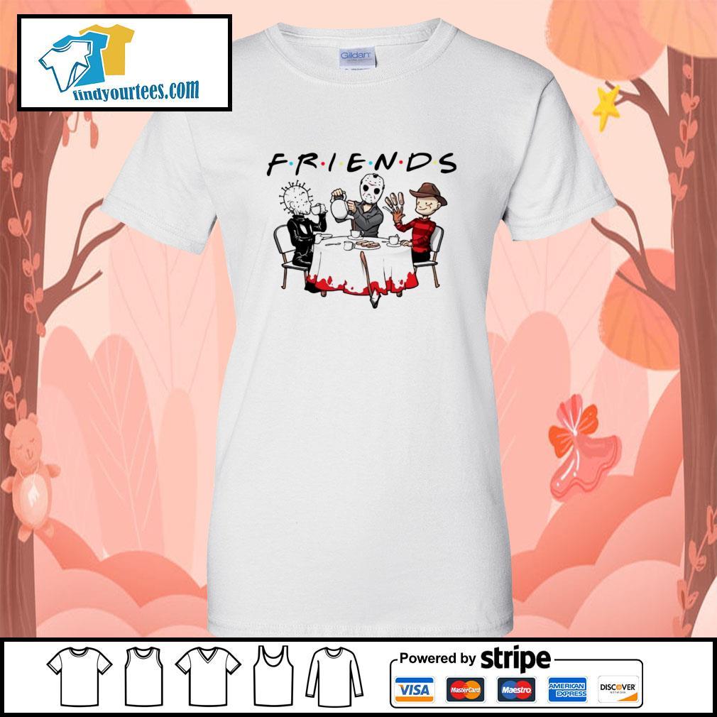 Hellraiser Jason Voorhees Freddy Krueger friends Halloween s Ladies-Tee
