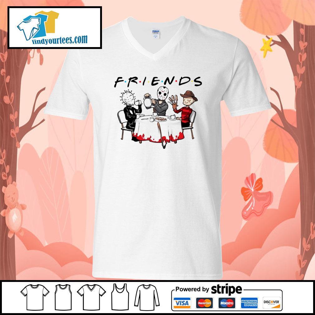Hellraiser Jason Voorhees Freddy Krueger friends Halloween s V-neck-T-shirt