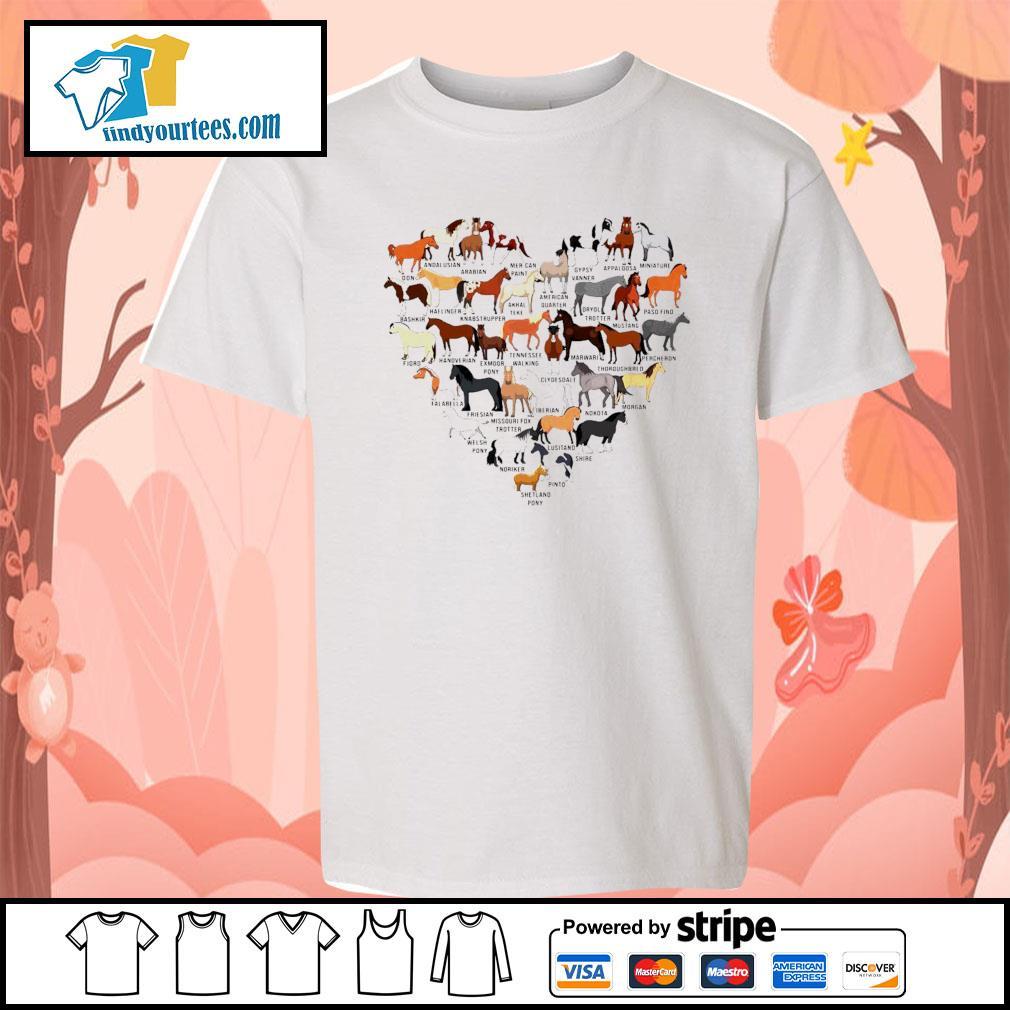 Horse breed of Horses heart s Kid-T-shirt