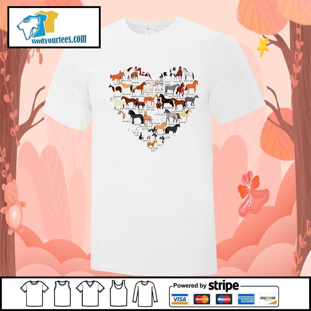 Horse breed of Horses heart shirt