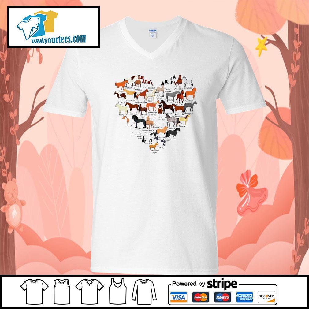 Horse breed of Horses heart s V-neck-T-shirt