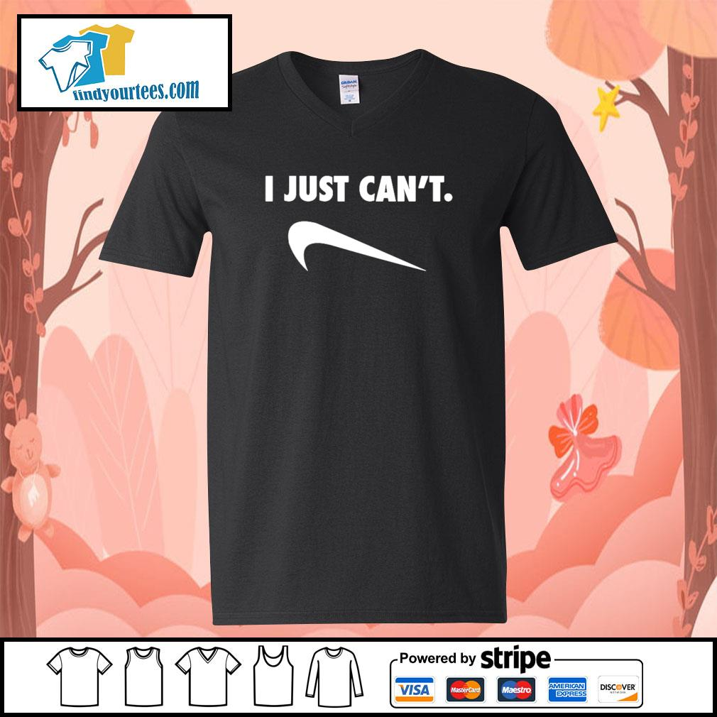 I just can't Nike Parody s V-neck-T-shirt