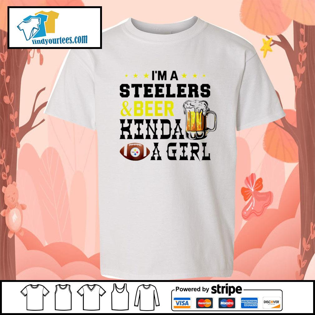 I'm a Pittsburgh Steelers and beer kinda a girl s Kid-T-shirt