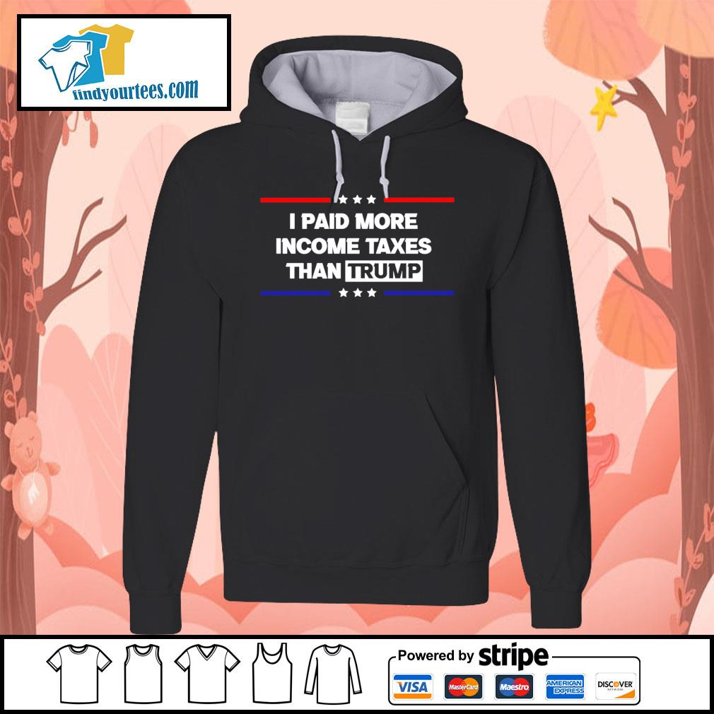 I paid more income taxes than Trump s Hoodie